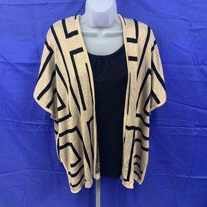 A Knitch Above Brown & Black Drape Style Cardigan